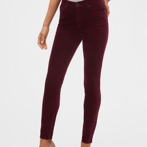 Banana Republic burgundy corduroy skinny pants